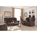 Morris Home Furnishings Colton Power Space Saver Reclining Sofa with Power Tilt Headrest