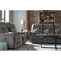 Best Home Furnishings Conen Power Reclining Space Saver Sofa with Power Tilt Headrest