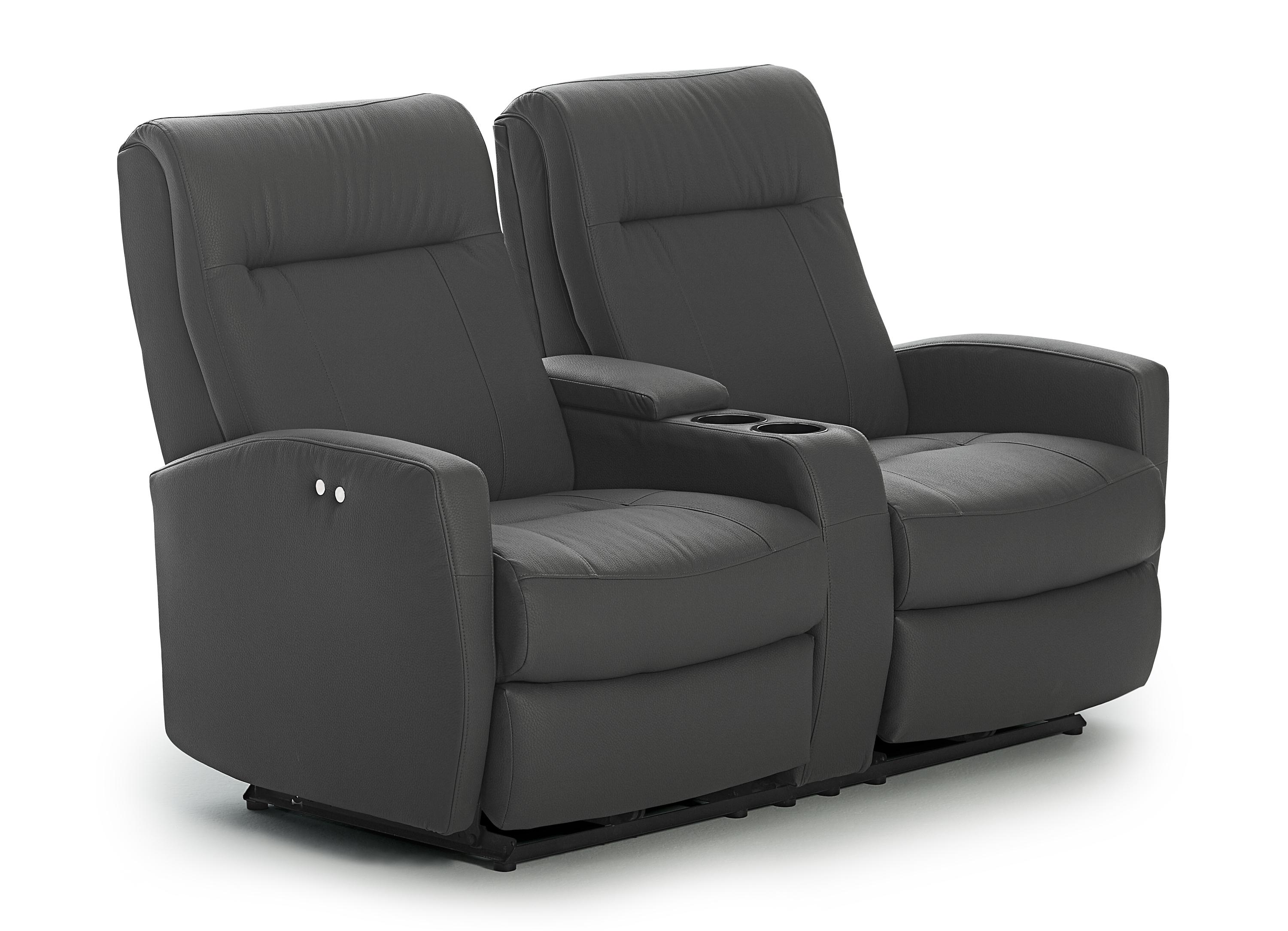 Contemporary space saver power reclining loveseat with Best loveseats