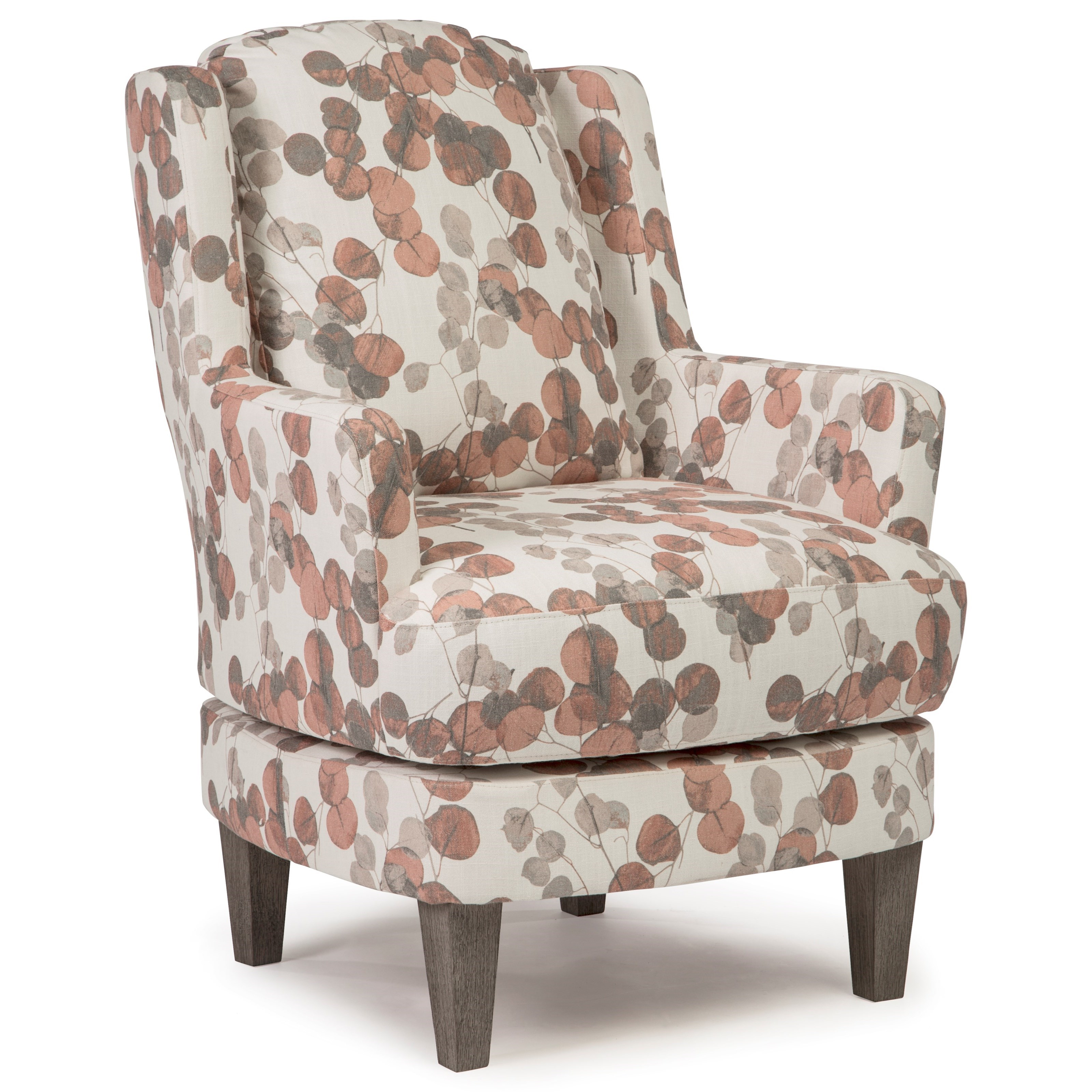 Best Home Furnishings Crew Transitional Wing Back Swivel