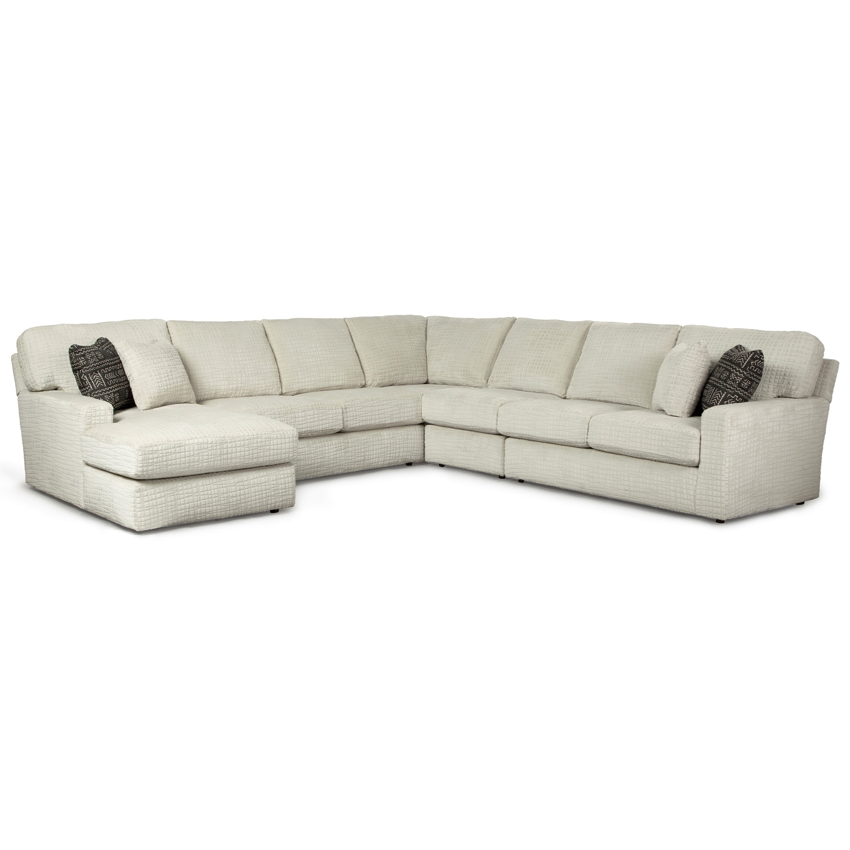 5 Pc Sectional Sofa w/ LAF Chaise