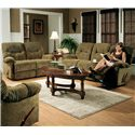 Best Home Furnishings Ellisport Reclining Sofa with Rolled Arms - Sofa Shown with Loveseat