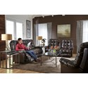 Best Home Furnishings Everlasting Rocking Reclining Loveseat with Storage Console