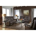 Best Home Furnishings Everlasting Power Space Saver Reclining Loveseat with Storage Console