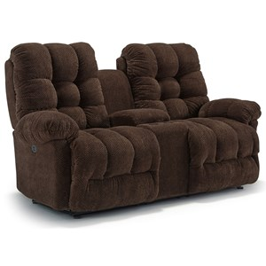 Morris Home Furnishings Everlasting Power Rocking Reclining Loveseat w/ Console