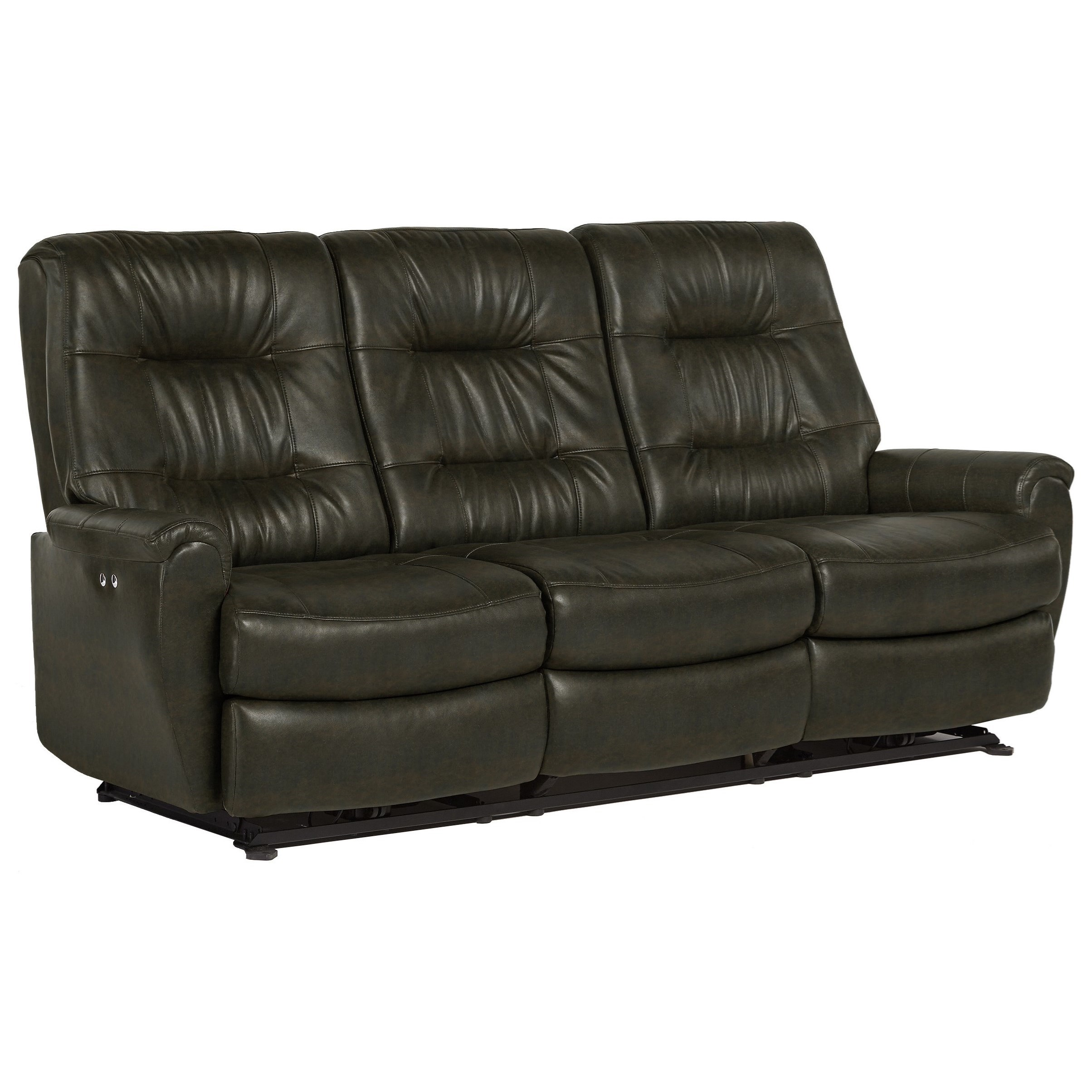 best home furnishings felicia small scale power reclining sofa with chic button tufting olinde