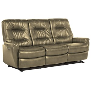 Small Scale Reclining Sofa With Chic On Tufting