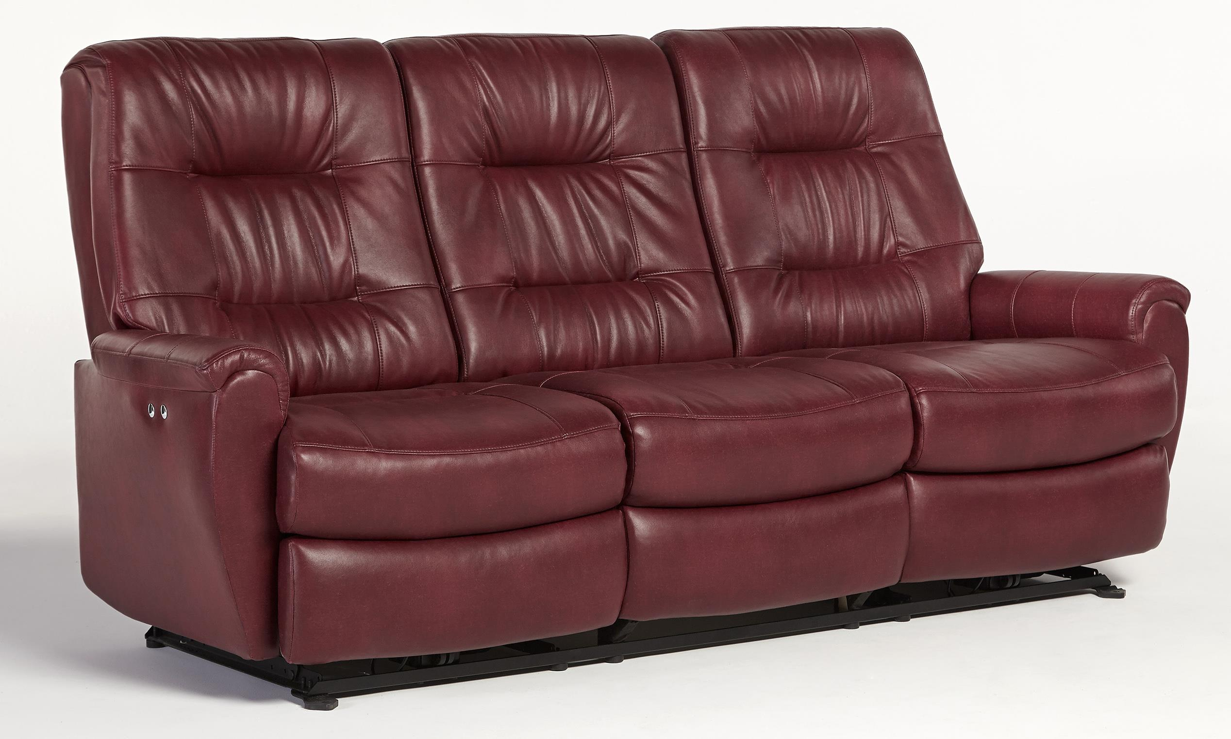 Best Home Furnishings Felicia S270ua4 Small Scale Reclining Sofa With Chic Button Tufting