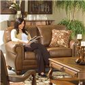 Morris Home Furnishings Fitzpatrick Stationary Loveseat - Item Number: L63DP