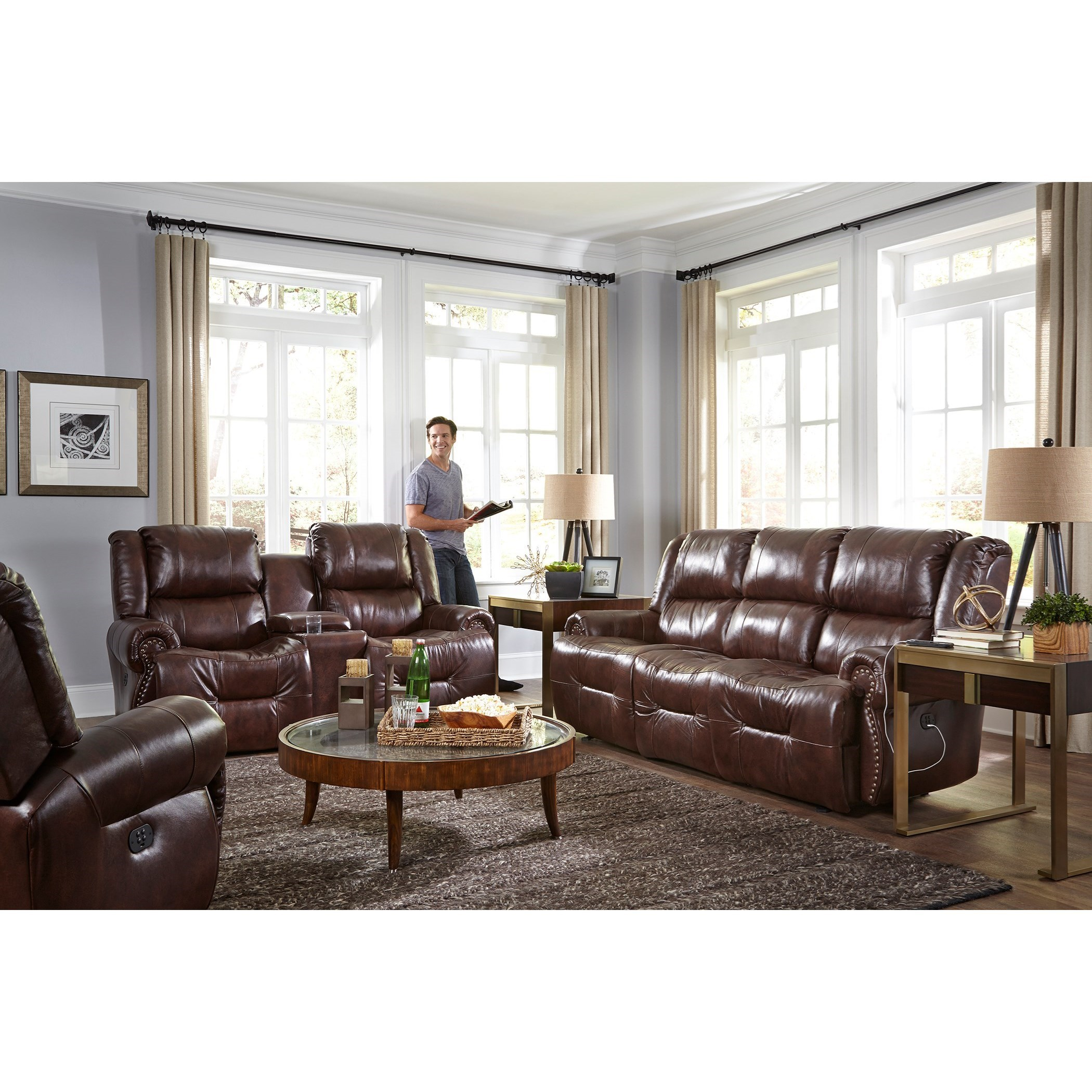 Genet Power Reclining Living Room Group by Best Home Furnishings at Saugerties Furniture Mart