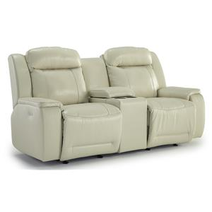 Morris Home Furnishings Hardisty Rocking Reclining Loveseat w/ Console