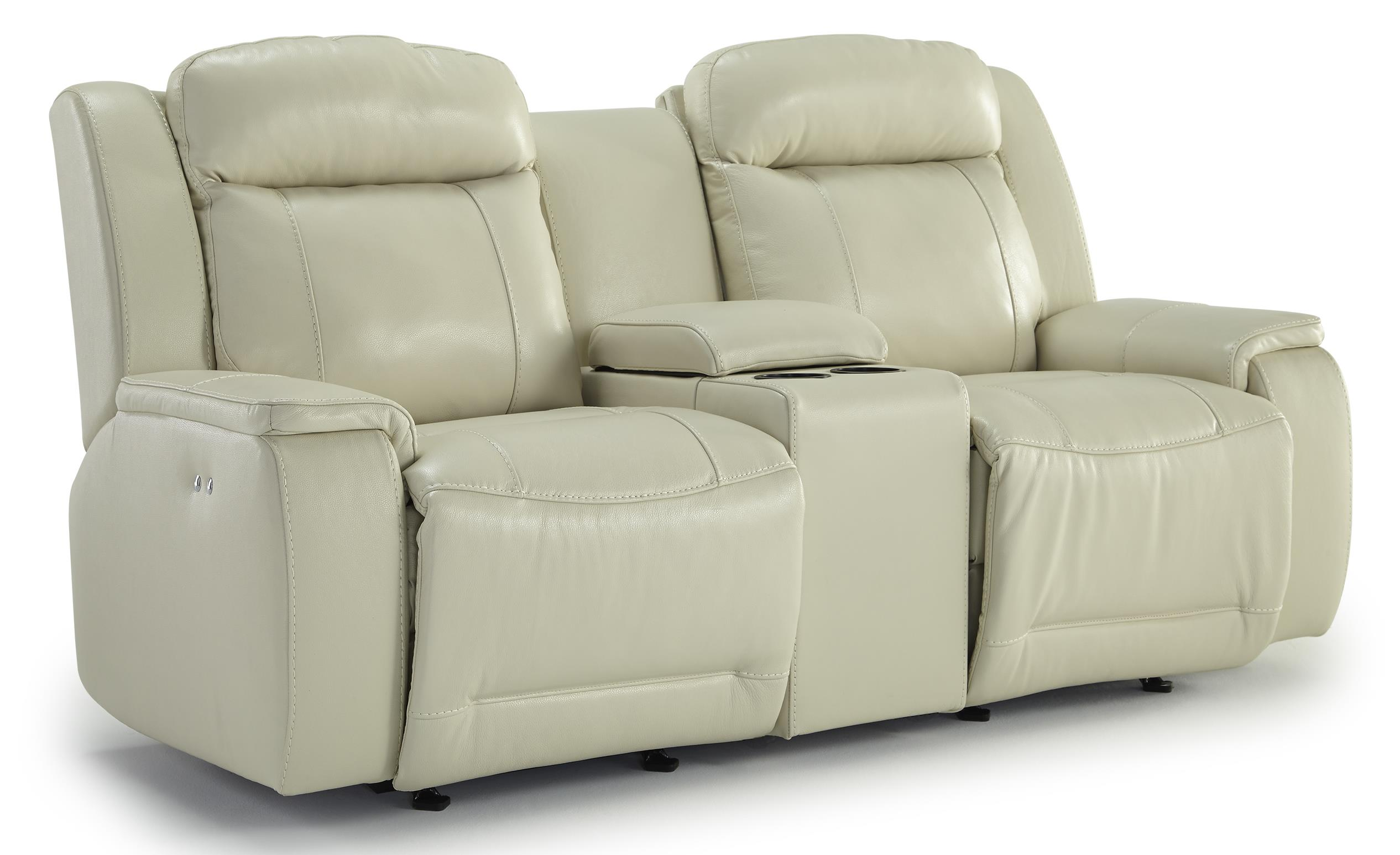 Best Home Furnishings Hardisty Power Rocking Reclining Loveseat w/ Console - Item Number: L680CQ7-76507LV