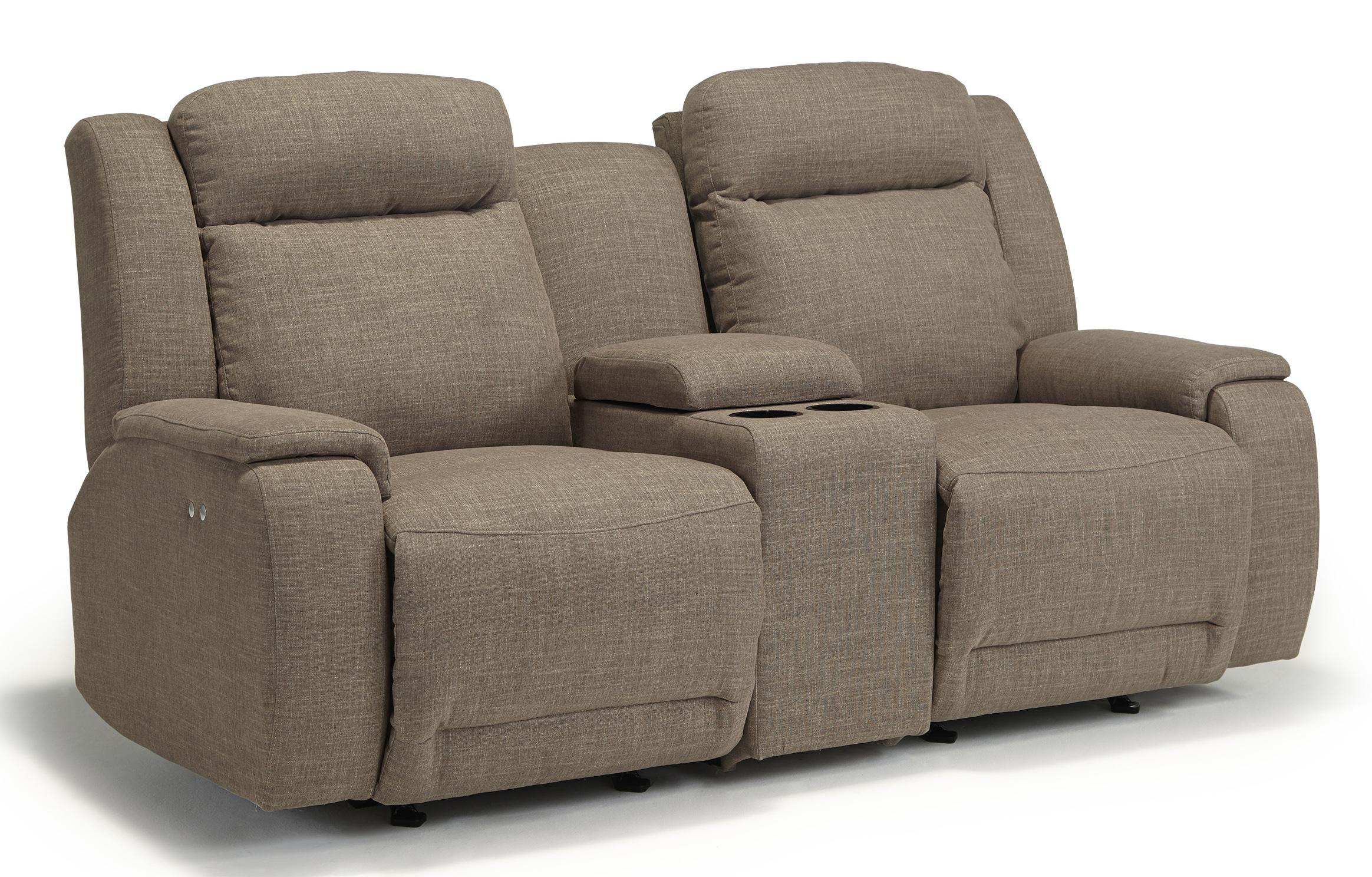 Hardisty Power Rocking Reclining Loveseat With Cupholder And Storage Console By Best Home