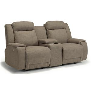 Best Home Furnishings Hardisty Rocking Reclining Loveseat w/ Console