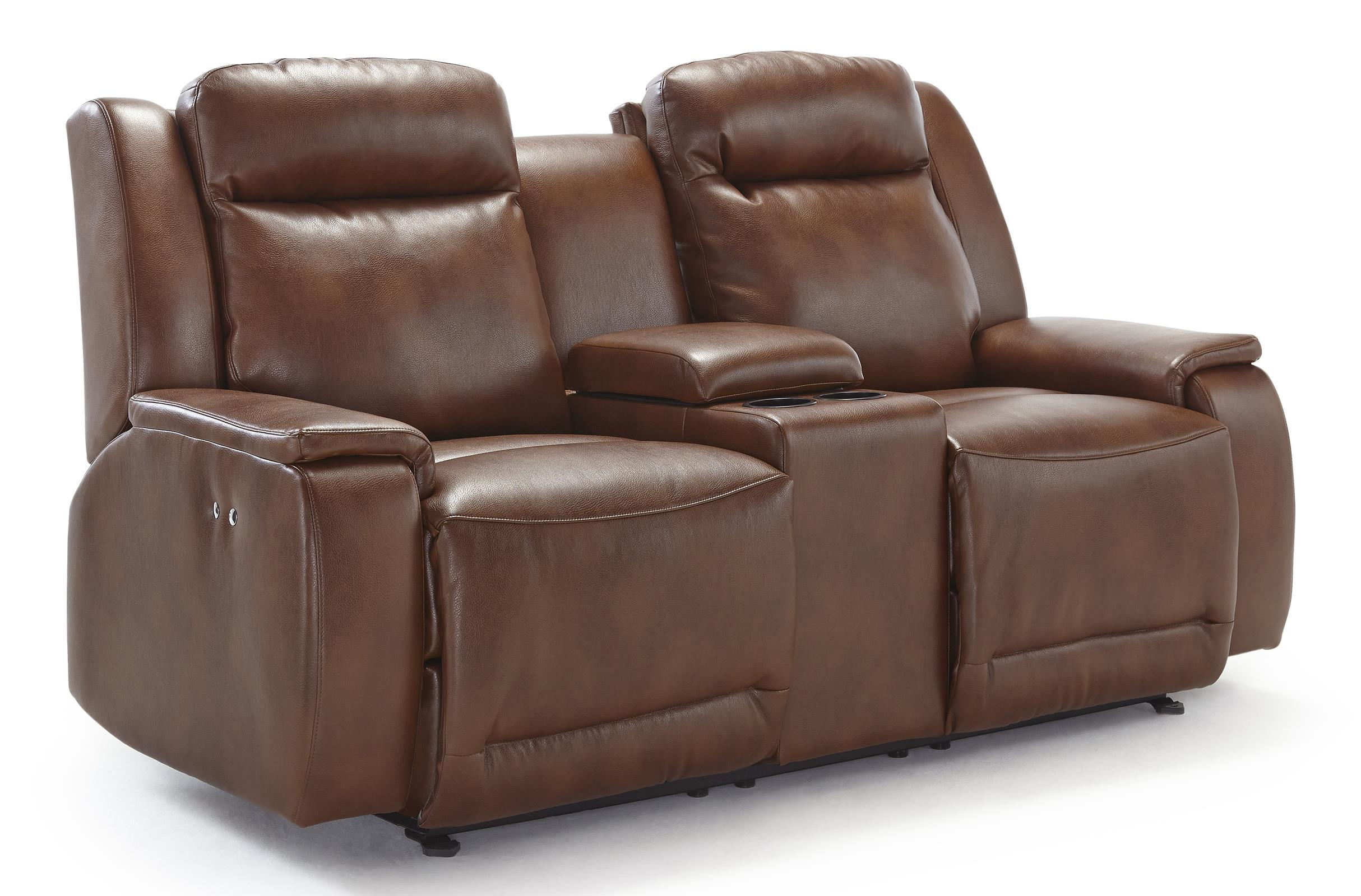 Best Home Furnishings Hardisty Pwr Space Saver Reclining Love w/ Console - Item Number: L680RQ4U-26764U
