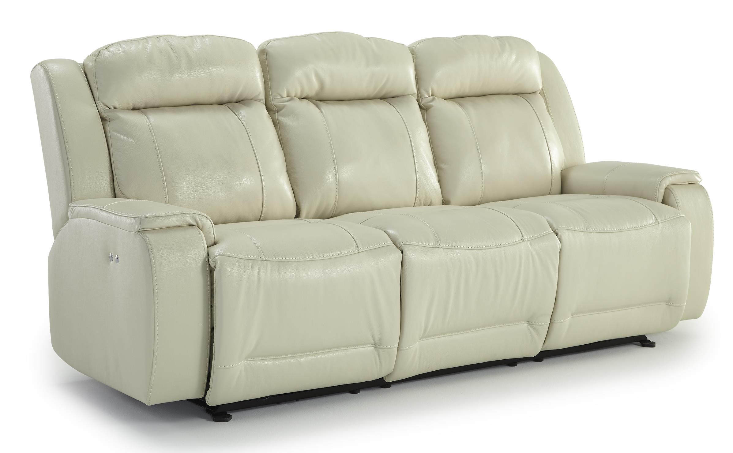 best home furnishings hardisty casual power reclining sofa with memory foam cushions value