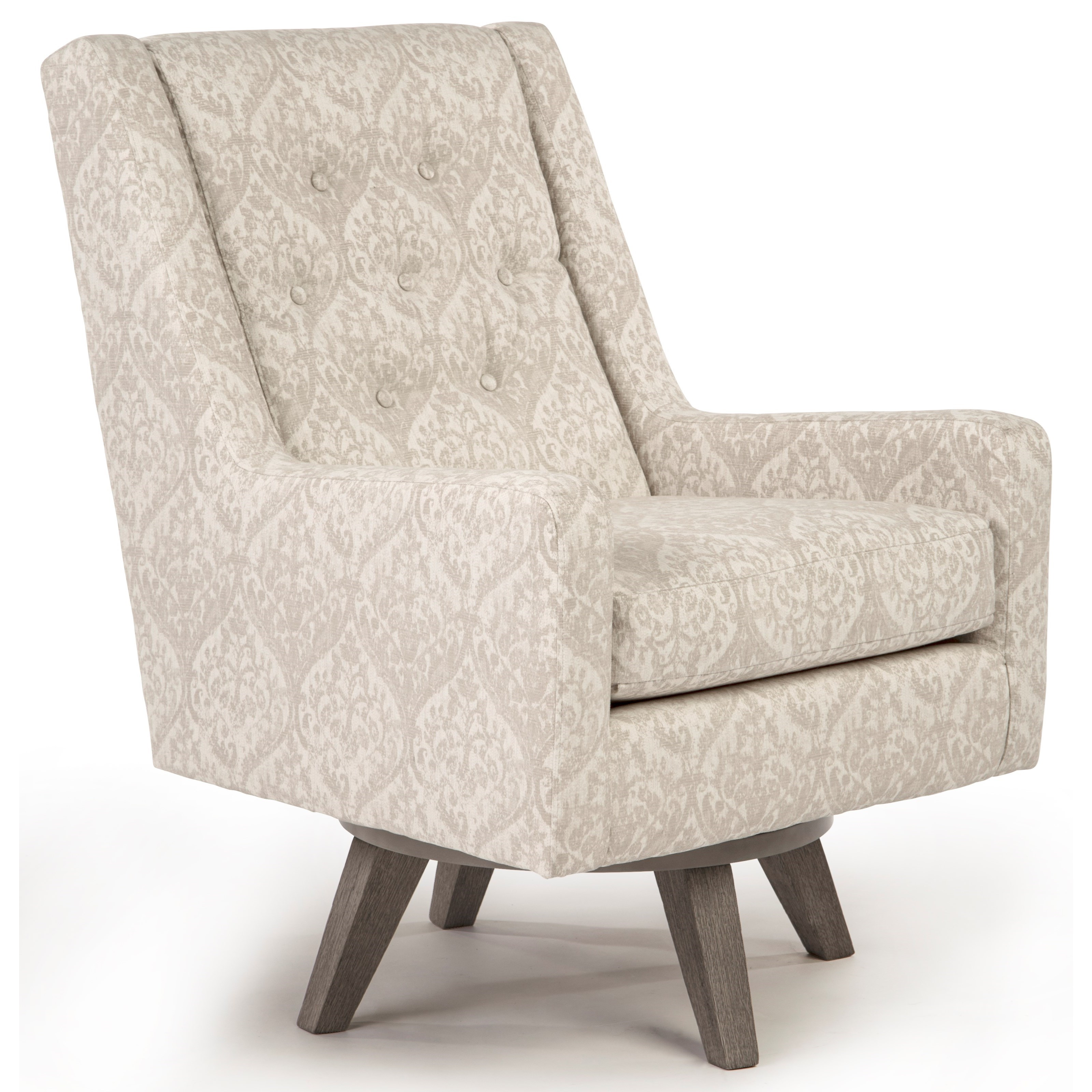 Picture of: Best Home Furnishings Kale Mid Century Modern Swivel Chair Pedigo Furniture Upholstered Chairs