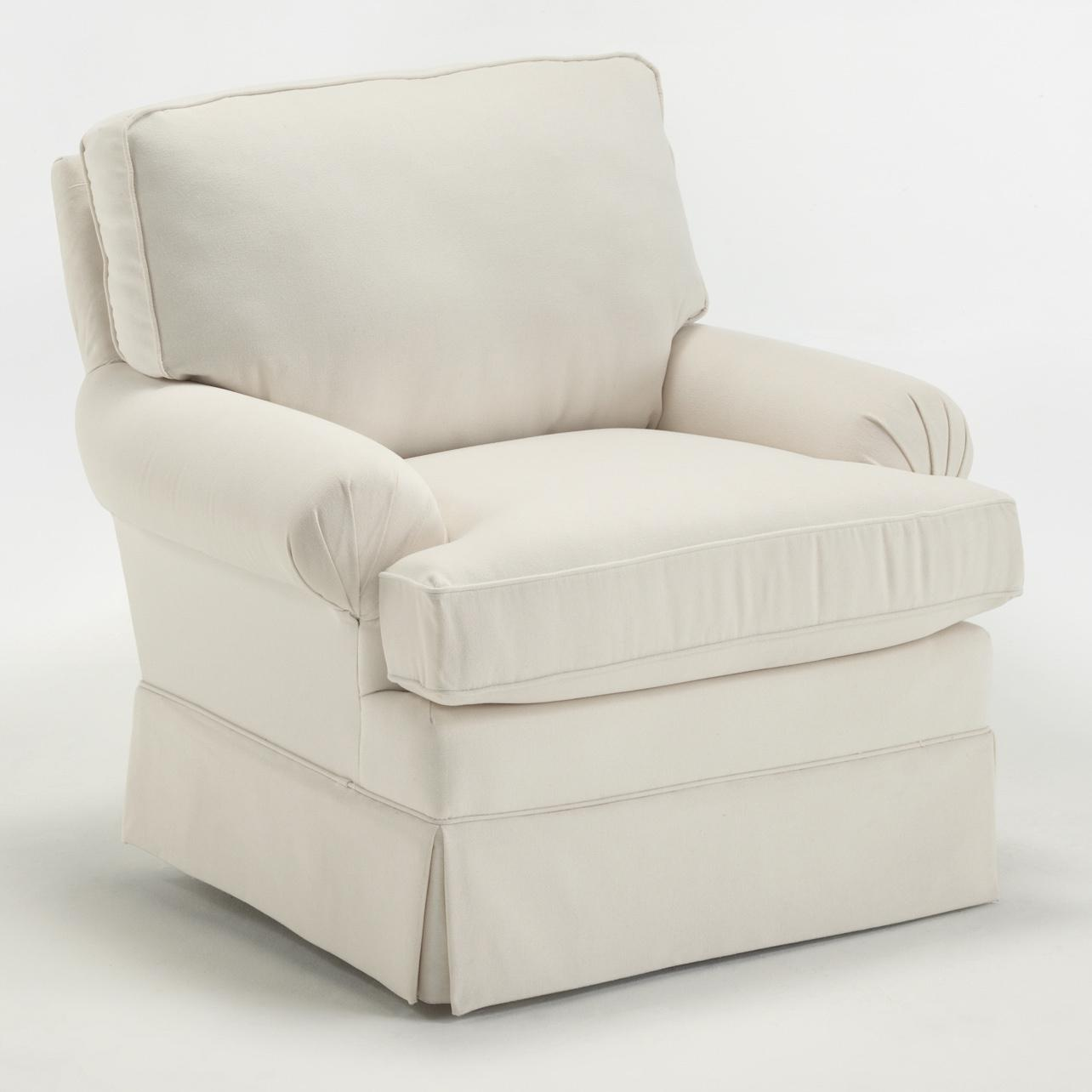 best home furnishings kamilla kamilla swivel glider with skirted base johnny janosik upholstered chairs - Glider Chairs