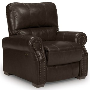 Morris Home Furnishings Lander Power High Leg Recliner