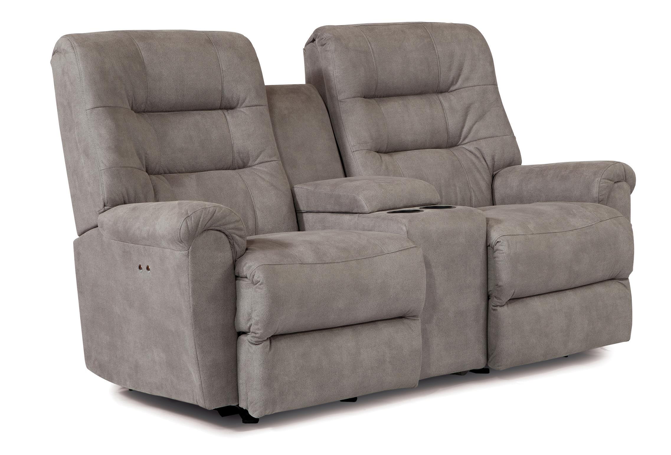 Best Home Furnishings Langston Rocker Recliner Loveseat with Console - Item Number: L820RC7-25273