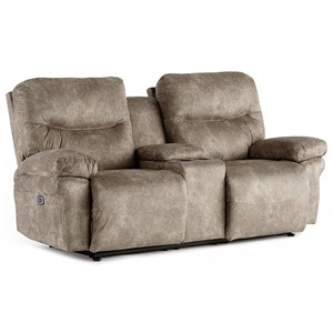 Manual Space Saver Loveseat with Console