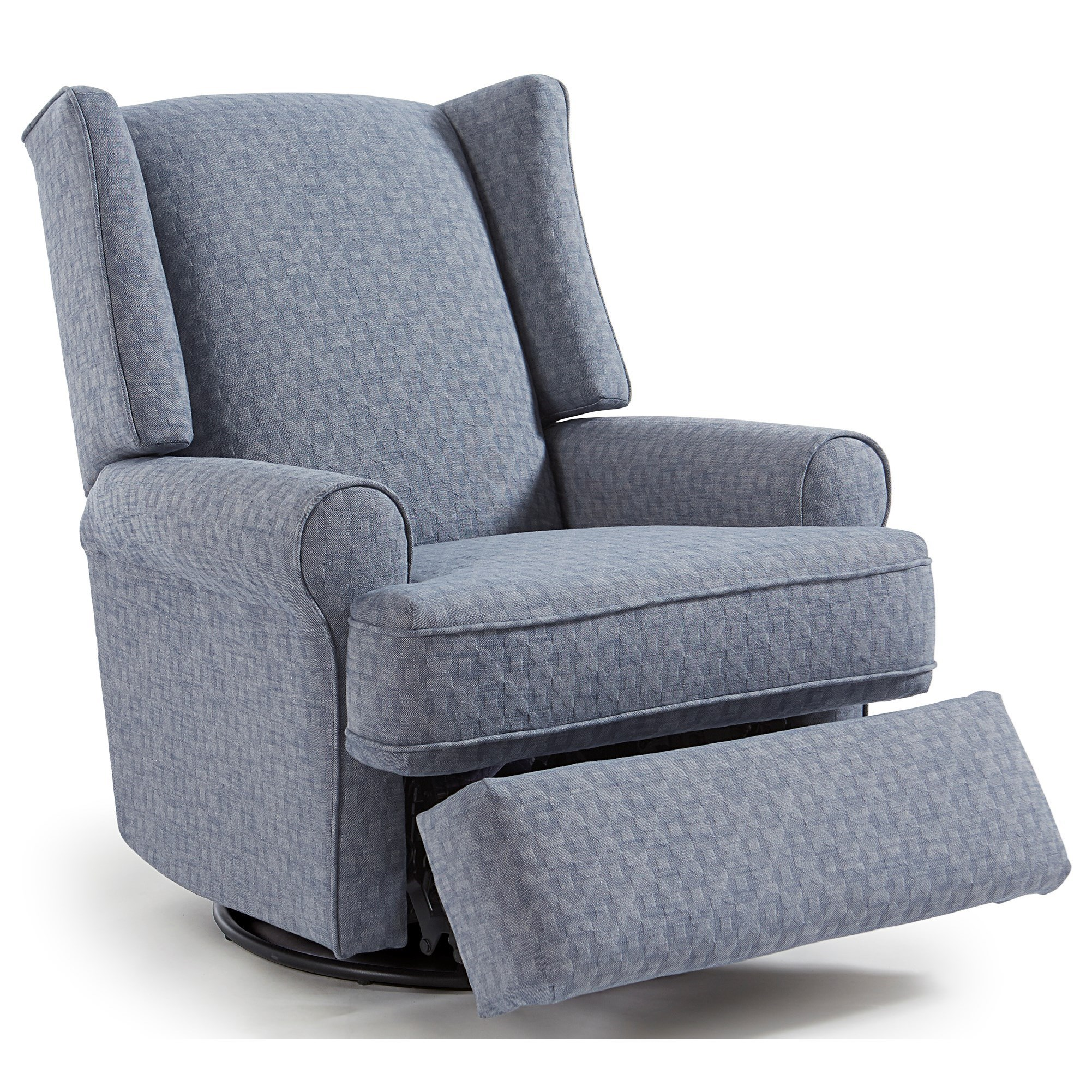 best home furnishings logan 5ni95 wing chair style swivel glider recliner