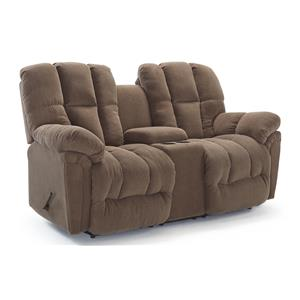 Best Home Furnishings Lucas Pwr Rock Reclining Love w/ Console & Headres