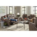 Best Home Furnishings Lucas Plush Power Rocking Reclining Loveseat with Drink Console - Loveseat shown may not represent exact features indicated