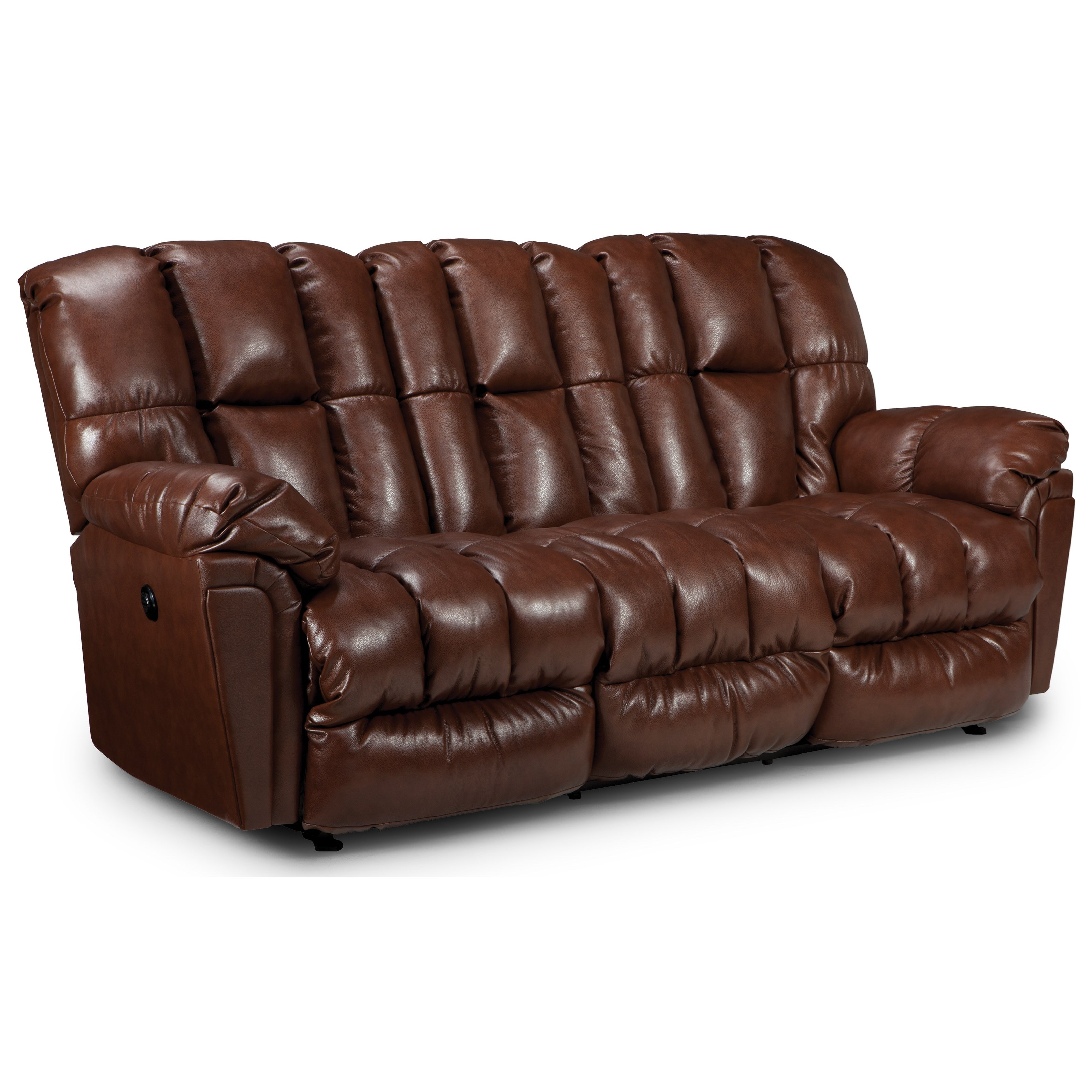 Best Home Furnishings Lucas Casual Plush Reclining Sofa with Full