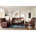 Best Home Furnishings Lucas Casual Plush Reclining Sofa with Full-Coverage Chaise Legrest