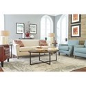 Morris Home Furnishings Madelyn Tight Back Sofa with Club Arms
