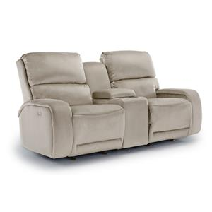 Best Home Furnishings Matthew Power Rocking Reclining Loveseat w/ Console