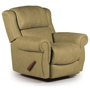 Best Home Furnishings Medium Recliners Terrill Swivel Glider Recliner