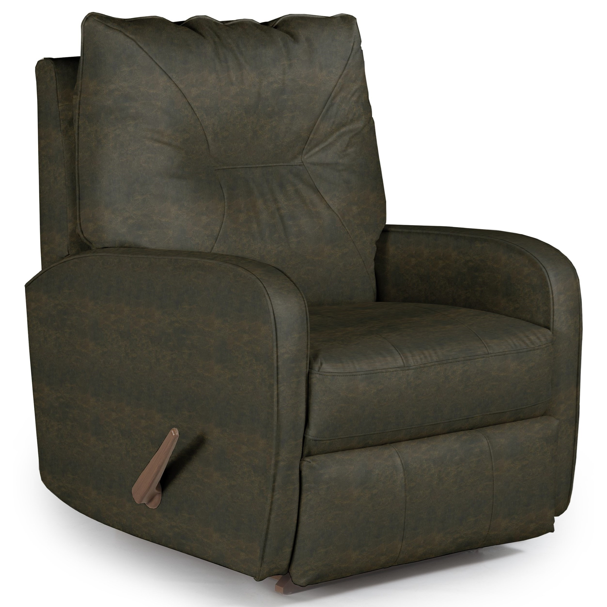 Best home furnishings recliners medium contemporary ingall rocker recliner in sleek modern - Stylish rocker recliner ...