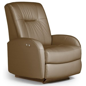Best Home Furnishings Medium Recliners Ruddick Power Space Saver Recliner
