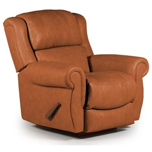 Best Home Furnishings Medium Recliners Terrill Swivel Rocker Recliner