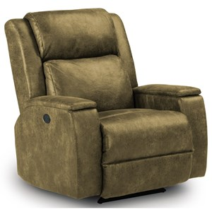 Best Home Furnishings Medium Recliners Colton Power Rocker Recliner