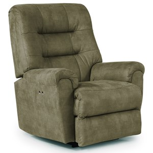 Best Home Furnishings Medium Recliners Langston Power Space Saver Recliner