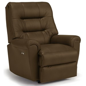 Best Home Furnishings Medium Recliners Langston Power Rocker Recliner