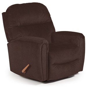 Best Home Furnishings Medium Recliners Markson Power Rocker Recliner
