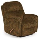 Best Home Furnishings Medium Recliners Markson Swivel Rocker Recliner - Item Number: 1535190177-22406