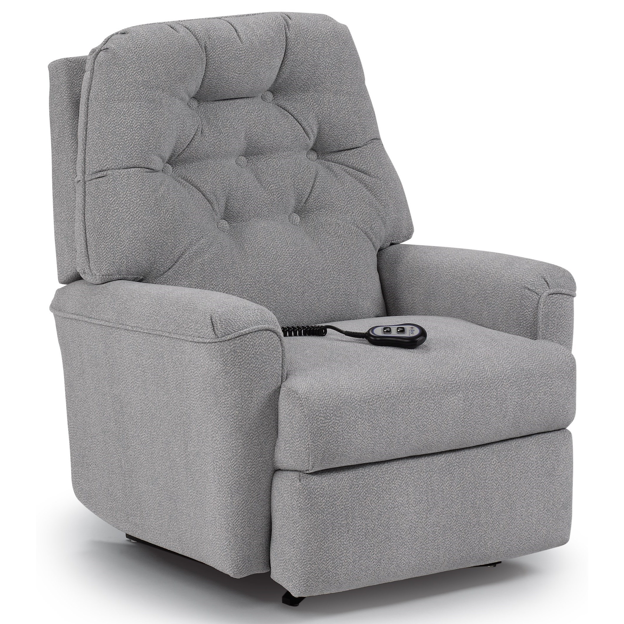 Best Home Furnishings Recliners - Medium Cara Power Space Saver Recliner - Item Number: 1AP44
