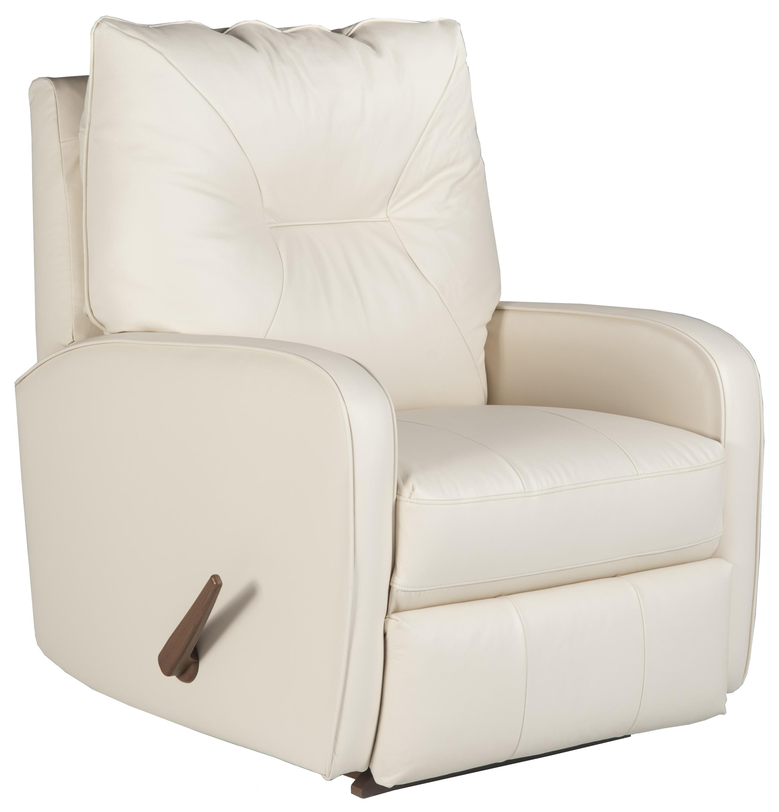 Recliners Medium Contemporary Ingall Swivel Rocker Recliner In Sleek Modern Style By Best Home