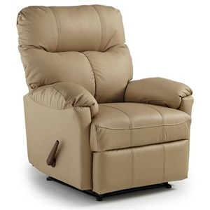 Best Home Furnishings Recliners - Medium Picot Power Rocker Recliner