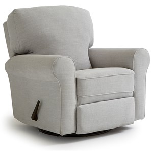 Best Home Furnishings Medium Recliners Irvington Swivel Glider Recliner