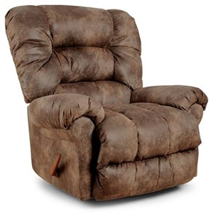 Best Home Furnishings Medium Recliners Seger Power Rocker Recliner