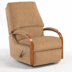 Best Home Furnishings Medium Recliners Pike Swivel Rocker Recliner