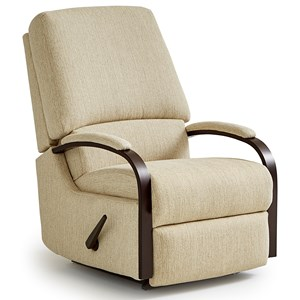 Best Home Furnishings Recliners - Medium Pike Swivel Rocker Recliner