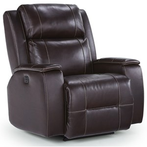 Best Home Furnishings Medium Recliners Colton Power Space Saver Recliner