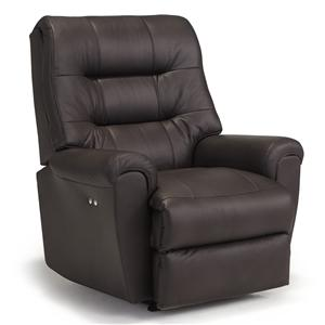 Best Home Furnishings Medium Recliners Langston Swivel Rocker Recliner